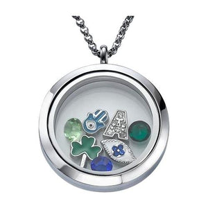 My lucky charm floating locket necklace my family necklace my lucky charm floating locket necklace my family necklace aloadofball Choice Image