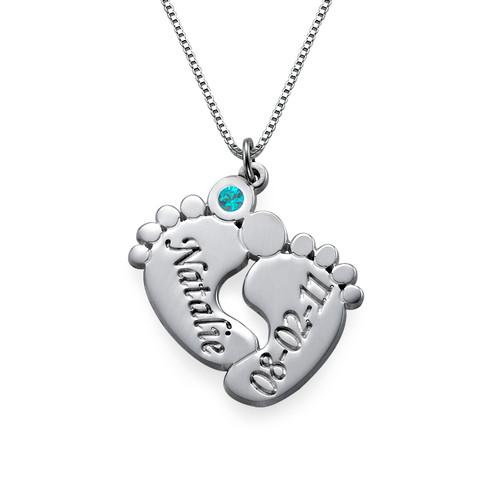 Personalized Baby Feet Necklace - My Family Necklace