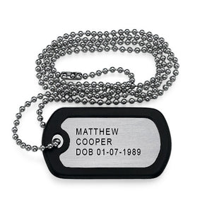 Men's Personalized Dog Tag in Stainless Steel