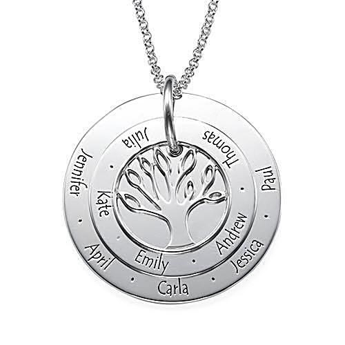 Personalized Family Tree Necklace in Sterling Silver - My Family Necklace