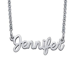 Signature Sterling Silver Script Necklace - My Family Necklace