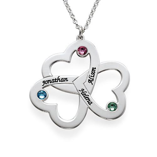 Personalized Triple Heart Necklace - My Family Necklace
