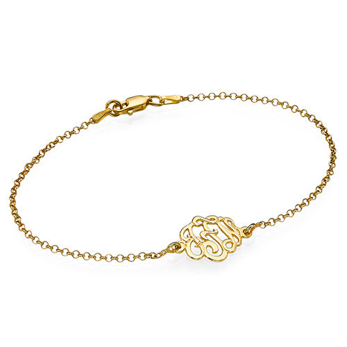 Premium Monogram Bracelet in 18K Gold Plating