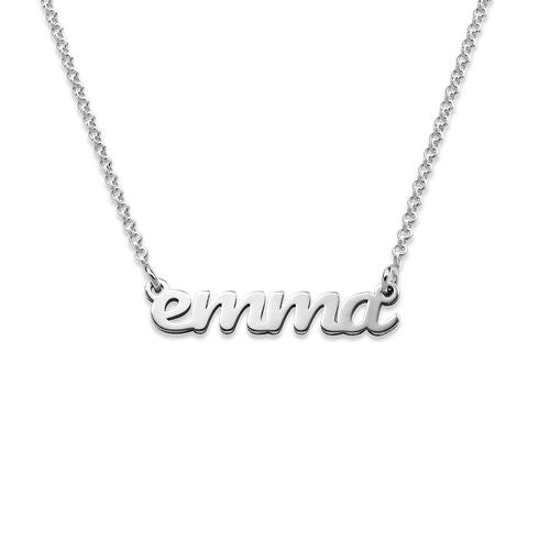 Script Name Necklace in Sterling Silver - My Family Necklace