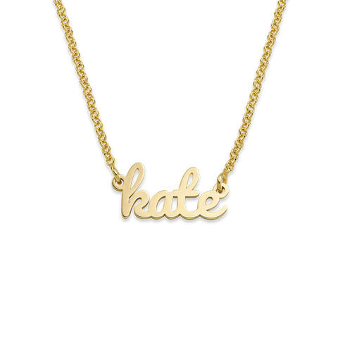 Script Name Necklace in 18K Gold Plating - My Family Necklace