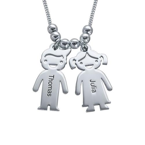 Mother's Necklace with Children Charms - My Family Necklace