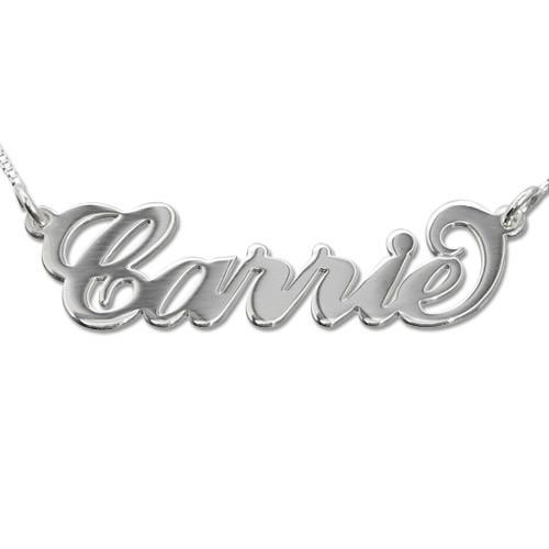 Carrie Name Necklace in Sterling Silver - My Family Necklace