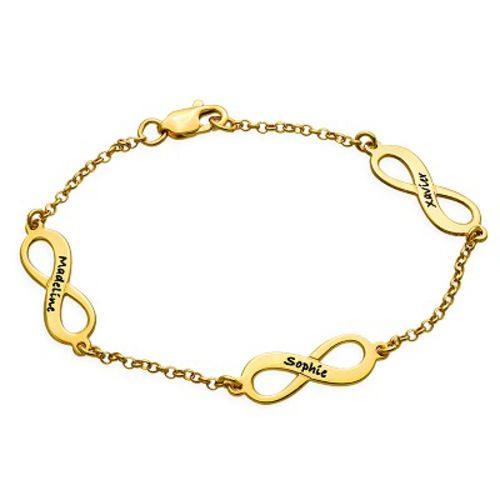 Infinity Charms Bracelet in 18K Gold Plating
