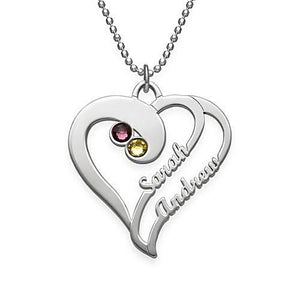 Two Hearts Forever Necklace - My Family Necklace