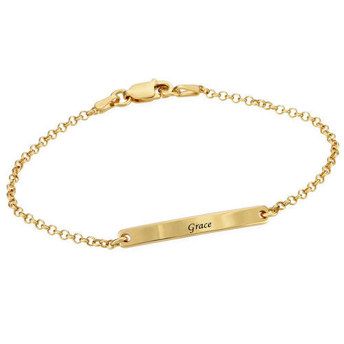 Slim Bar Bracelet in 18K Gold Plating