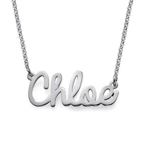 Cursive Name Necklace in Sterling Silver - My Family Necklace