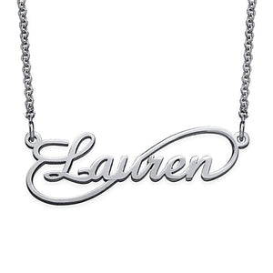 Infinity Style Name Necklace in Sterling Silver - My Family Necklace