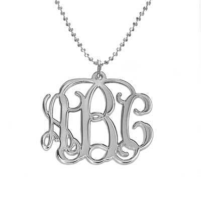 Monogram Necklace in Sterling Silver - My Family Necklace