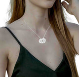 Russian Ring Necklace with 3 rings in Sterling Silver