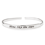 Personalized Inspirational Bangle in Sterling Silver
