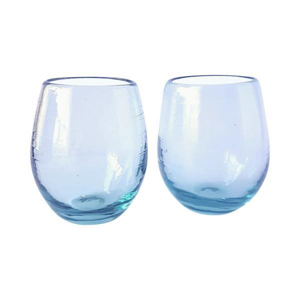 Handblown Stemless Wine Glass - Clear