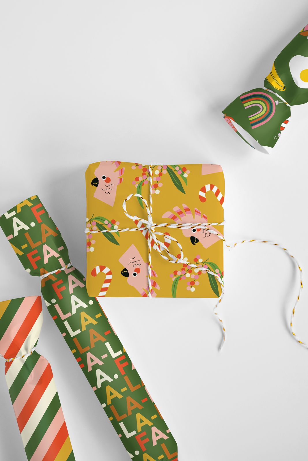 'FA-LA-LA' Christmas Wrapping Paper