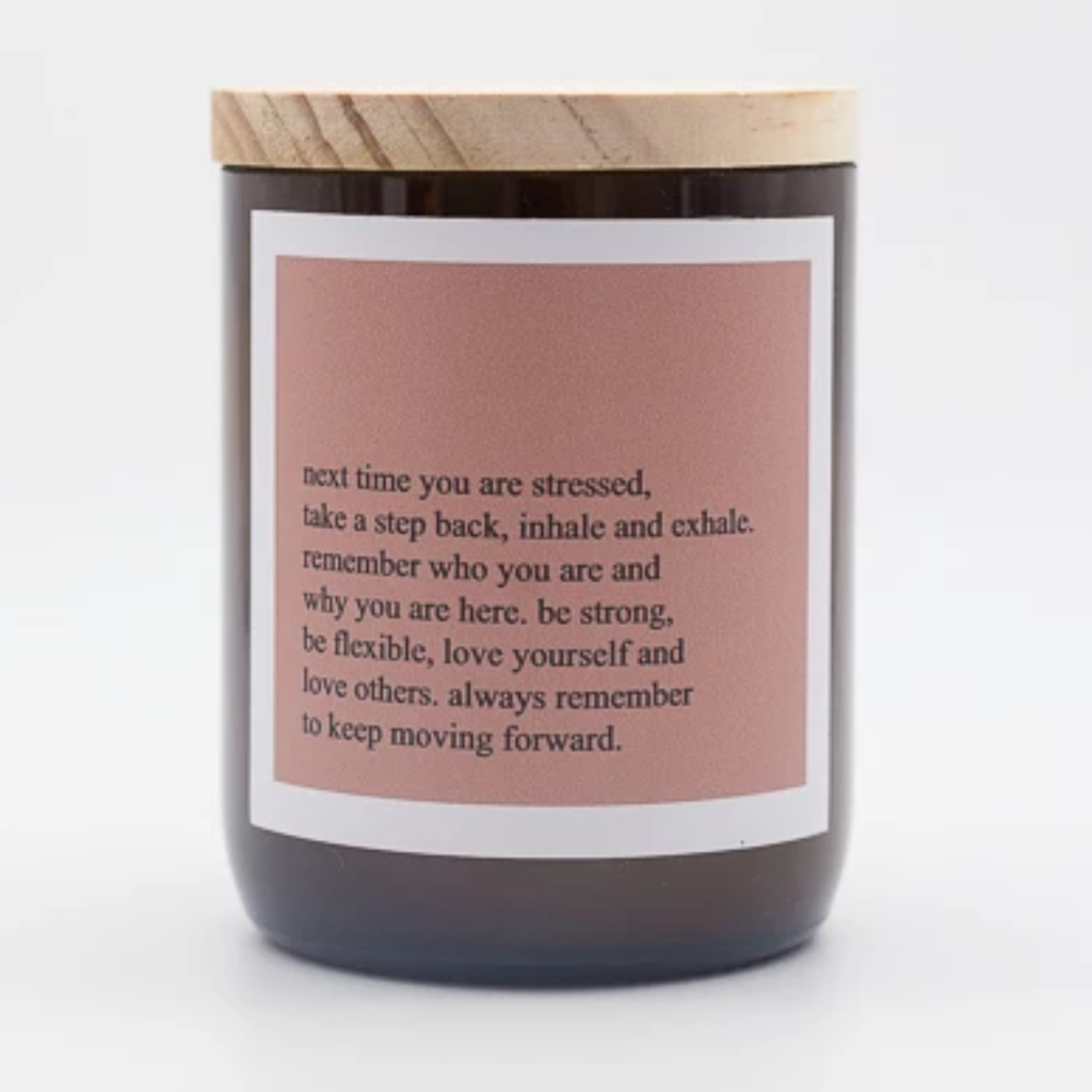 The Commonfolk Traders - Heartfelt Quote Candle - Inhale, exhale