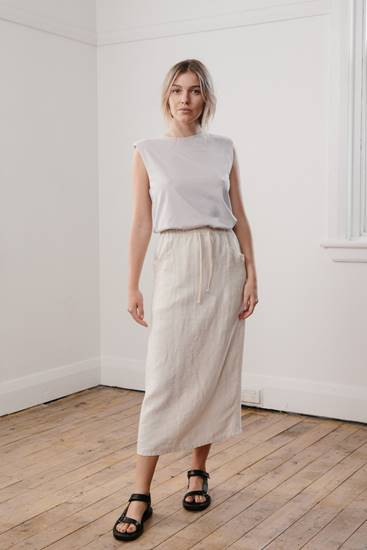 Luxe Midi Skirt - Cream