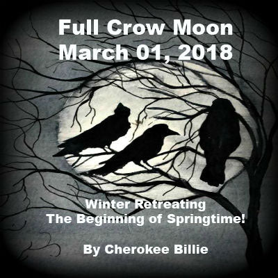 Full Crow Moon March 01, 2018