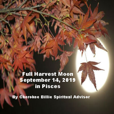 Full Moon September 14, 2019 in Pisces