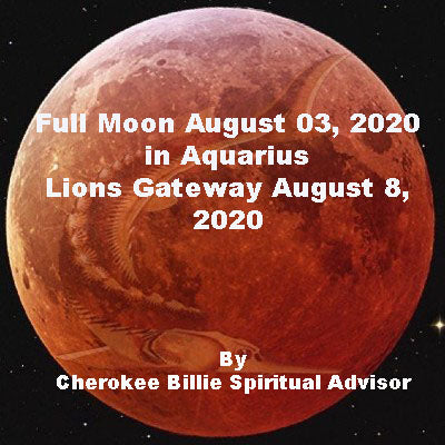 Full Moon August 03, 2020 in Aquarius