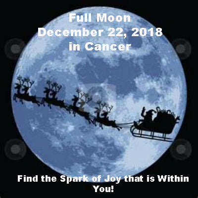 Full Moon December 22, 2018 in Cancer