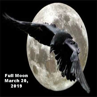 Full Moon March 20, 2019, Super Moon & Spring Equinox
