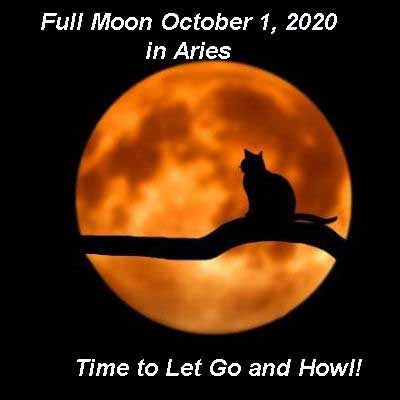 Full Moon October 1, 2020 in Aries.