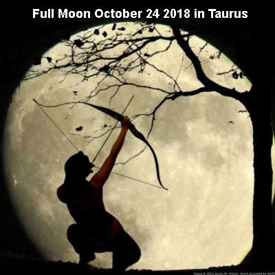 Full Moon October 24, 2018 in Taurus