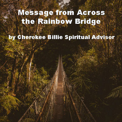 Message from Across the Rainbow Bridge