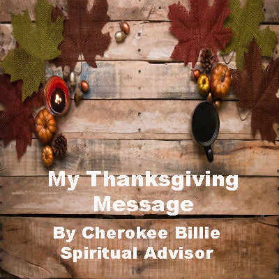 My Thanksgiving Message