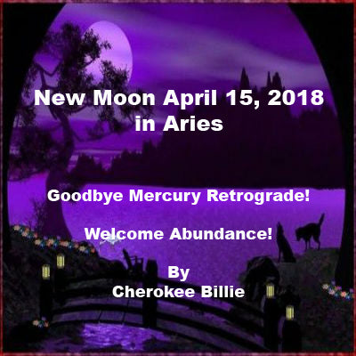New Moon April 15, 2018 in Aries