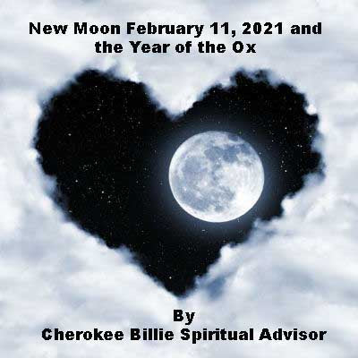 New Moon February 11, 2021 and the Year of the Ox