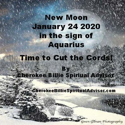 New Moon January 24, 2020 in Sign of Aquarius
