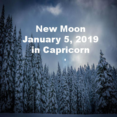 New Moon January 5, 2019 in Capricorn