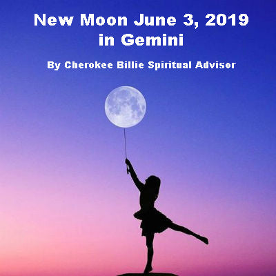 New Moon June 3, 2019 in Gemini