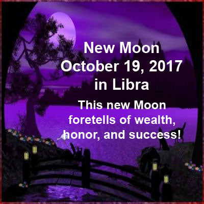 New Moon October 19, 2017 in Libra