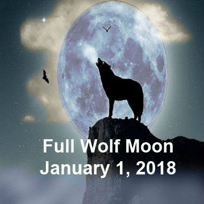 Full Wolf Moon January 1, 2018