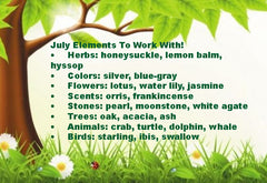 July Elements To Work With