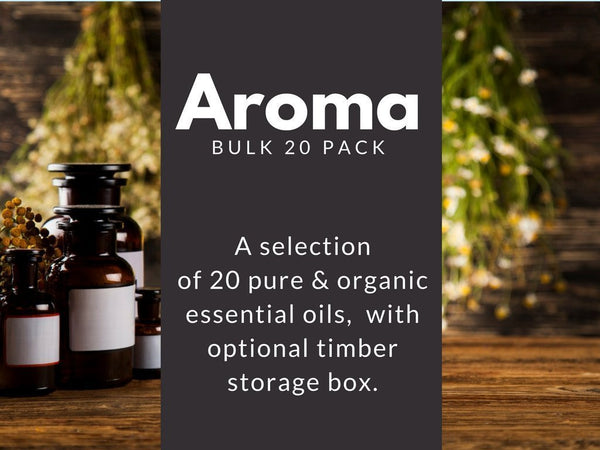 Aroma Bulk 20 Essential Oils Pack-essential oils-Charcoal+Oil-No Box-Charcoal+Oil