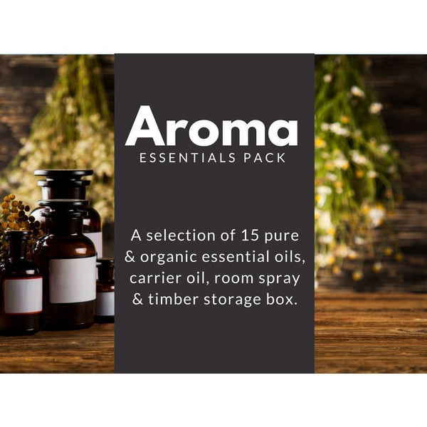 Aroma Essentials Pack-bundle-Charcoal+Oil-15 Oils-Charcoal+Oil