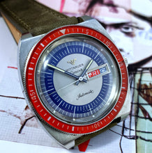 RARE~70s CAPTAIN AMERICA WITTNAUER DAY/DATE DIVE~SERVICED