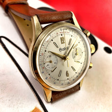 HANDSOME~LATE 60s GOLD GALLET VALJOUX 7733 CHRONO