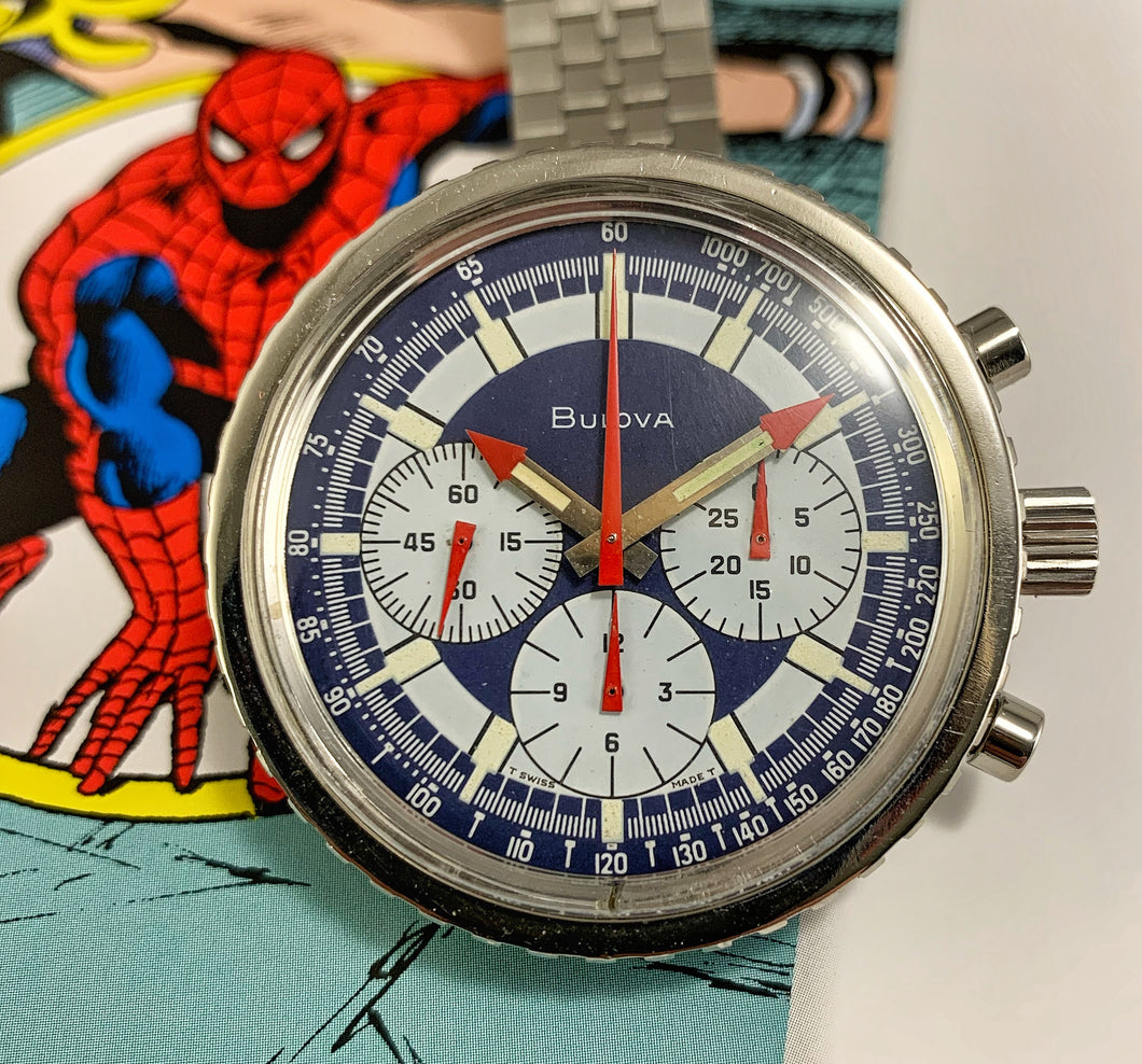 PATRIOTIC~1970 BULOVA STARS AND STRIPES VALJOUX 7736 CHRONO