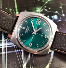 COOL~1972 GREEN DIAL'd SEIKO 7005-7001 AUTOMATIC