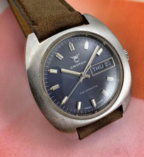 CLEAN~LATE 60s CROTON AQUAMATIC DAY/DATE WITH BOX