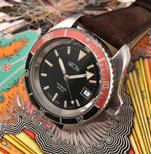 FAR-OUT~70s GEOTA MONNIN CASED AUTOMATIC 300M DIVER