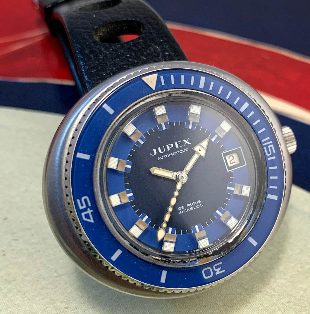 SEXY~NOS EARLY 70s JUPEX AUTOMATIQUE DIVER