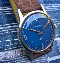 COOL~1970 BLUE BULOVA SEA KING~SERVICED